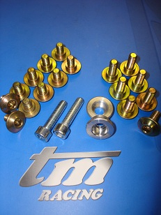 TM RACING: Fixings : Nuts : Bolts : Washers : All Internal & External Springs : Spacers : Top Hats : Brackets : & More For Engine and Chassis