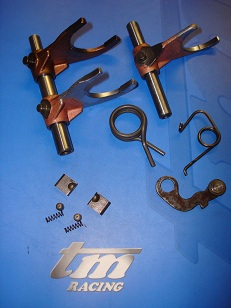TM RACING: Transmission Parts : Gearboxes : Primary Drive : Gear Selector Systems : Kickstart Systems : Associated Hard Parts