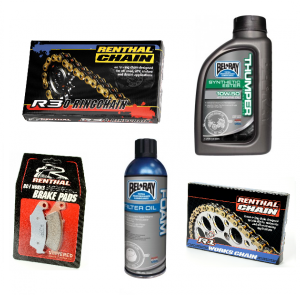 Chains : Sprockets : Brake Pads : Seat Covers : Air / Oil Filters : & More. Renthal : TM Racing : Twin Air : Moto-Seat